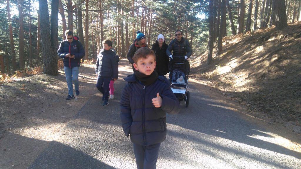 Ruta con niños cercedilla