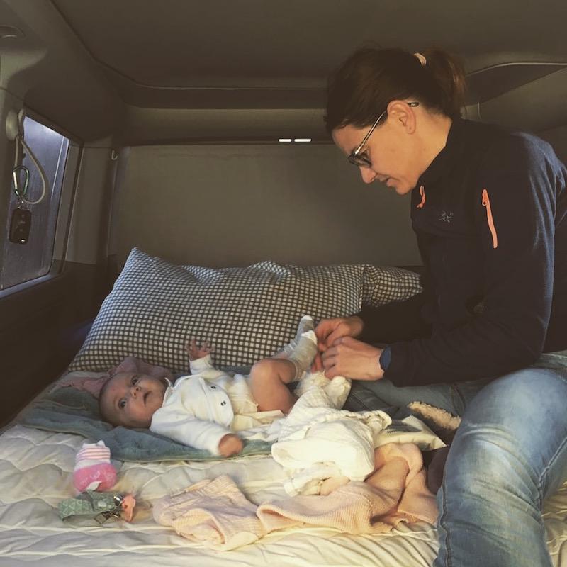 como organizar en furgo con bebe